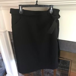 Banana Republic pencil skirt side tie sash Sz14